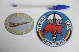 Autocollant Stickers - ARMEE DE L'AIR Militaire 1° PARA EMS MORTIERS - Lot De 2 Autocollants - Adesivi
