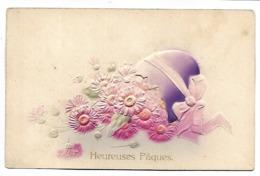 HEUREUSES PAQUES -  Carte Gaufrée - Pâques