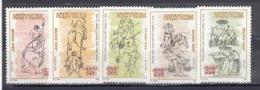 Vietnam 1989 - 19th Century Painting: Rice Cultivation, Mi-Nr. 2105/09, MNH** - Vietnam