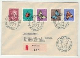Suisse//Schweiz//Svizerra // Switzerland // Pro-Juventute // 1952 // Lettre Recom Pour La Cote Aux Fées , J.Timbre 1952 - Pro Juventute