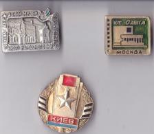 OLD PIN  --   LOT 3 X PINS UKRAINA - Pin's & Anstecknadeln
