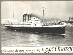 CPSM Bateaux - Compagnie Générale Transatlantique - Gouverneur Général Chanzy - Paquebots