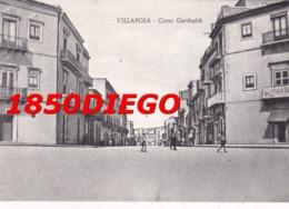 VILLAROSA - CORSO GARIBALDI  F/GRANDE VIAGGIATA 1955 ANIMATA - Enna