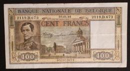 Belgium 100 Francs 30-01-1946 - [ 2] 1831-... : Regno Del Belgio