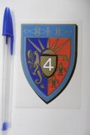 Autocollant Stickers - ARMÉE / Emblème : 4° Régiment De Hussards Base De METZ - Stickers