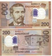 """ALBANIA.  New 200 Leke. """"Just Issued"""". POLIMER.  2019. UNC - Albanië"""