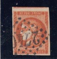 France - Emission De Bordeaux - N°Y.T 48 - 40c Rouge-orange, Oblit Losange GC - 1870 Emissione Di Bordeaux