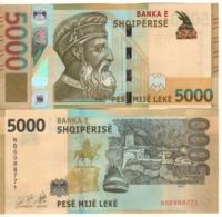 """ALBANIA.  New 5'000 Leke. """"Just Issued"""".  2019. UNC - Albanië"""