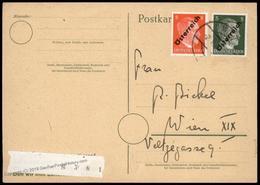 Austria 1945 Hitler Obliterated Postwar Cover 81487 - Stamps