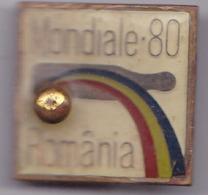 "OLD PIN  --   ROMANIA  --  2 X PINS  BOWLING WORLD CHAMPIONSHIPS  --   MONDIALE ""80 ROMANIA - Bowling"