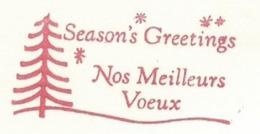 F017 EMA FREISTEMPEL METER Joyeux Noel Season Greetings Christmas Tree CANADA St Justin 1958 - Noël