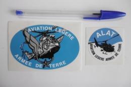 Autocollant Stickers - ARMÉE DE TERRE ALAT AVIATION LÉGÈRE - Lot De 2 Autocollants - Adesivi