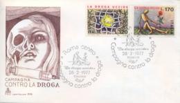 Italia Italy 1977 FDC CAPITOLIUM Campaign Against Drugs Campagna Contro La Droga - Droga