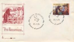 Italia Italy 1979 FDC CAPITOLIUM For Leprosy Patients Pro Hanseniani - Malattie