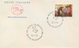 Italia Italy 1979 FDC CAVALLINO For Leprosy Patients Pro Hanseniani - Malattie