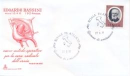 Italia Italy 1977 FDC CAPITOLIUM Edoardo Bassini Surgeon Chirurgo - Medicine