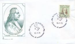 Italia Italy 1978 FDC CAPITOLIUM 350th Anniversary Birth Marcello Malpighi Anatomist And Physiologist - Medicina