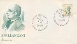 Italia Italy 1979 FDC CAPITOLIUM 250th Anniversary Birth Lazzaro Spallanzani Physiologist And Zoologist - Medicina