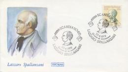 Italia Italy 1979 FDC ROMA 250th Anniversary Birth Lazzaro Spallanzani Physiologist And Zoologist - Medicina