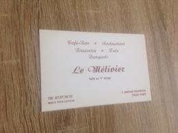 Ancienne Carte De Visite De Café Bar Restaurant.  Le Metivier  Paris - Cartoncini Da Visita
