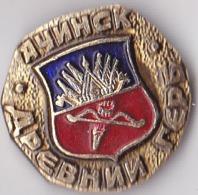 OLD PIN  --   RUSSIA  --  ACINSK  --  DREVNI GRB   --  COAT OF ARMS - Städte