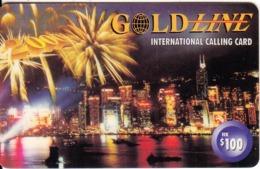 HONG KONG - City View, TeleGold Prepaid Card $100(thick Plastic), Used - Hongkong