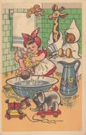 WASCHTAG - INTIM WÄSCHE Ungar.Künstlerkarte Gel.1923 - Künstlerkarten