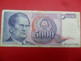 Yugoslavia-Jugoslavija 5000 Dinara 1985, P-93a - - - 100502 - - - - Jugoslavia