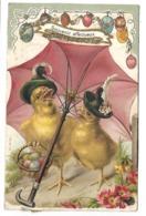 PAQUES - Poussins - Carte Gaufrée - Série 1426 - Pâques