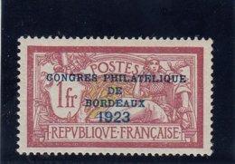 France - Année 1923  - N°Y.T. 182** - Très Bon Centrage - Certificat - Superbe - Cote 1387.50 - Nuovi