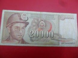 Yugoslavia-Jugoslavija 20000 Dinara 1987, P-95a - - - 100496 - - - - Jugoslavia