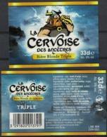 Belgique Lot 2 Etiquettes Bière Beer Labels La Cervoise Des Ancêtres Blonde Triple - Bier