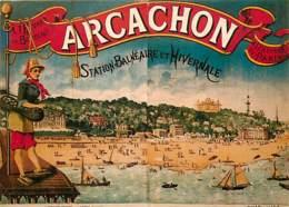 Publicite - Arcachon - Carte Neuve - Reproduction D'Affiche Publicitaire - Voir Scans Recto-Verso - Publicité