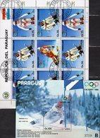 Calgary Olympia 1988 Paraguay 4114/5 Kleinbogen+Bl.441 **/o 27€ Läuferin Kiehl Alpine Skilauf Blocs Sheetlets Sport - Winter 1988: Calgary