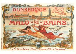 Publicite - Collection Les Affiches De La Belle Epoque - Dunkerque - Malo Les Bains - Carte Neuve - Reproduction D'Affic - Publicité
