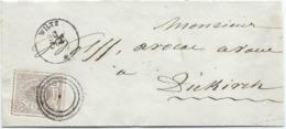 Brief - Mi 17c - Wiltz Nach Diekirch (geprüft F.S.P.L.) - 1859-1880 Armoiries