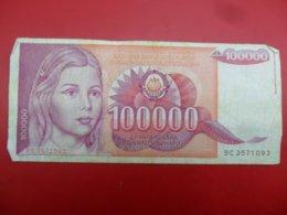 Yugoslavia-Jugoslavija 10000 Dinara 1989, P-97a - - - 100499 - - - - Jugoslavia