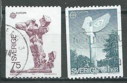 Suède YT N°831/832 Europa 1974 Sculptures Oblitéré ° - 1974