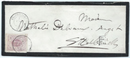 Brief - Mi 17a - Troisvierges 16 Avril 1870 Nach Ettelbrück (geprüft F.S.P.L.) - 1859-1880 Armoiries
