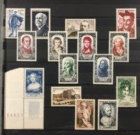Timbre France Année Complète 1950 YT 863 à 877 - 15 Valeurs Neufs (*) MH (côte 62 Euros) – Lot20 - Francia
