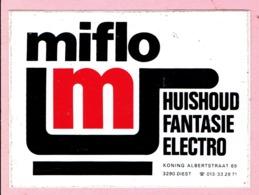 Sticker - Miflo - Huishoud Fantasie Electro - Koning Albertstraat DIEST - Pegatinas