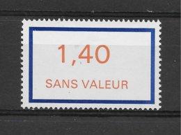 Fictif N° 206 De 1976 ** TTBE - Cote Y&T 2019 De 1 € - Phantomausgaben