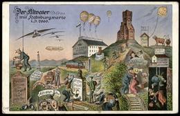 Austria Altwater Zeppelin Airship Balloon Humor Card 77013 - Postcards