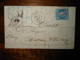Lettre GC 984 Chauny Aisne Avec Correspondance - 1849-1876: Période Classique