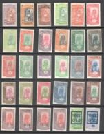 1915-27  Joueur De Tambour Et Femme Somali 30 Timbres * Différents - Französich-Somaliküste (1894-1967)