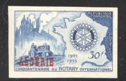 1955  Rotary  Emblème Sur Carte De France Yv 328 Non-dentelé ** - Algerien (1924-1962)