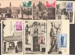1954 Béguinage De Bruges #946-951 Série Complète - Maximumkarten (MC)