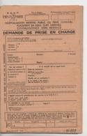 Vieux Papiers.Document Commercial.SNCF.soins Et Prothèse Dentaire.demande Prise En Charge Préavis - Frankreich