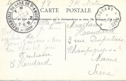 39-cachet Infirmerie De Gare De St Amour Sur CP De 1918 - Marcofilia (sobres)