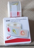 1 Doosje Rolzegels Van 10 X 10 Fruit Grote Tanding/grande Dentelure - Coil Stamps